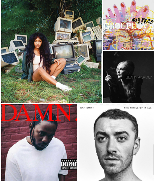 My Top Five Favorite Albums of 2017